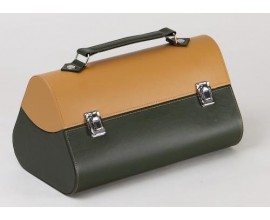 Coffret Malette Vert/Beige cuir 3 Bt
