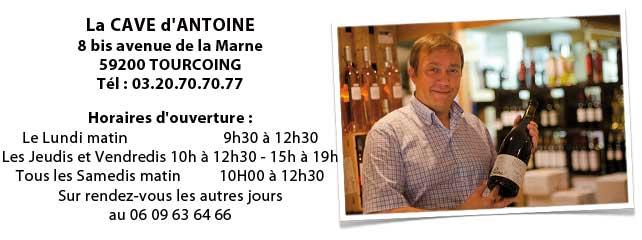 Les horaires de la Cave d'Antoine à Tourcoing