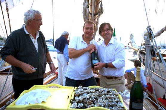 Champagne Henriot, Olivier Roellinger et Antoine Flahaut sur le Nan aux Voiles de Saint Tropez 2013