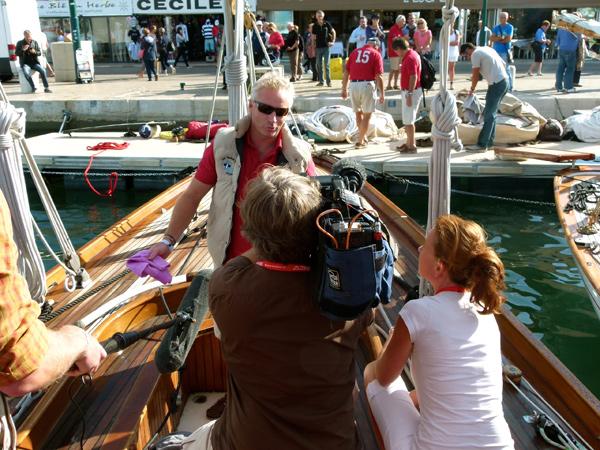 Philippe Menhinick, interviewé pour un reportage de Thalassa prévu au printemps 2014