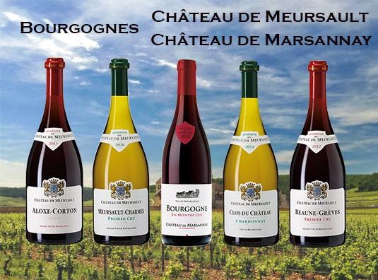 Château de Meursault et de Marsannay - Bourgognes blancs et rouges