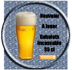 Gobelets bière incassable 35 cl à la location
