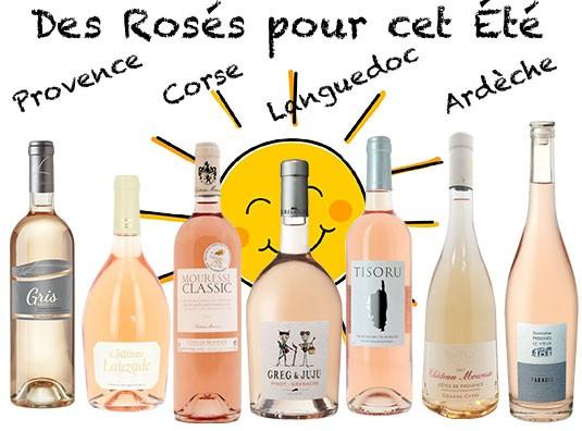Découvrez les rosés de Provence, d'Ardèche, du Pays d'Oc et même de Corse